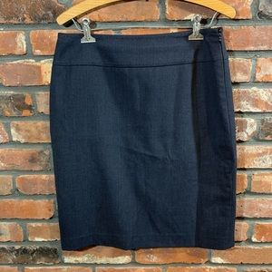 Elie Tahari Navy Wool Blend Career Pencil Skirt